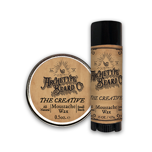 Archetye Moustache Wax tube and tin-Creative