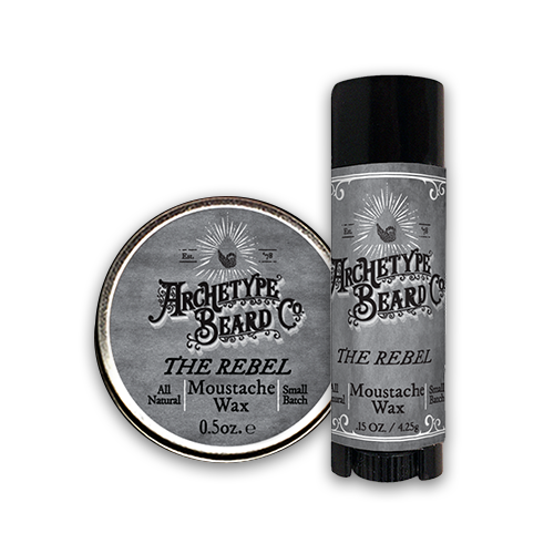Archetype Moustache Wax tube and tin-Rebel